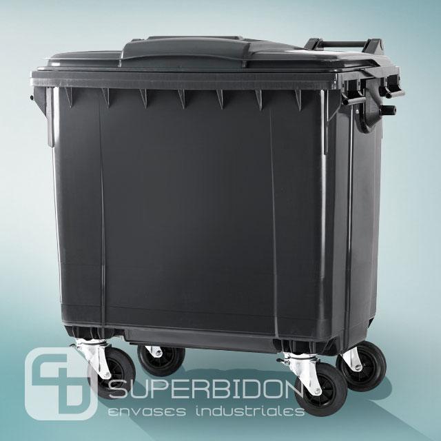 Basurero 1100 litros con tapa y  ruedas