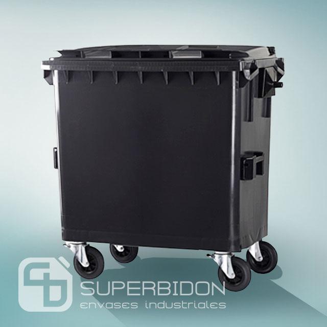 Basurero 770 litros con  tapa y ruedas