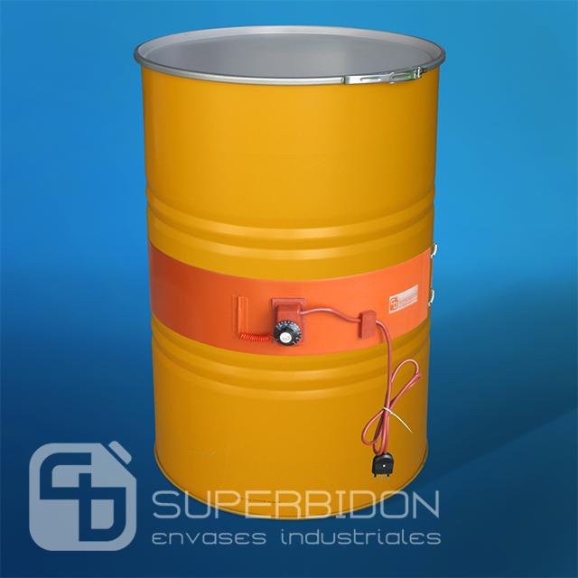 Tambor metálico 208 litros tapa fija sin revestimiento