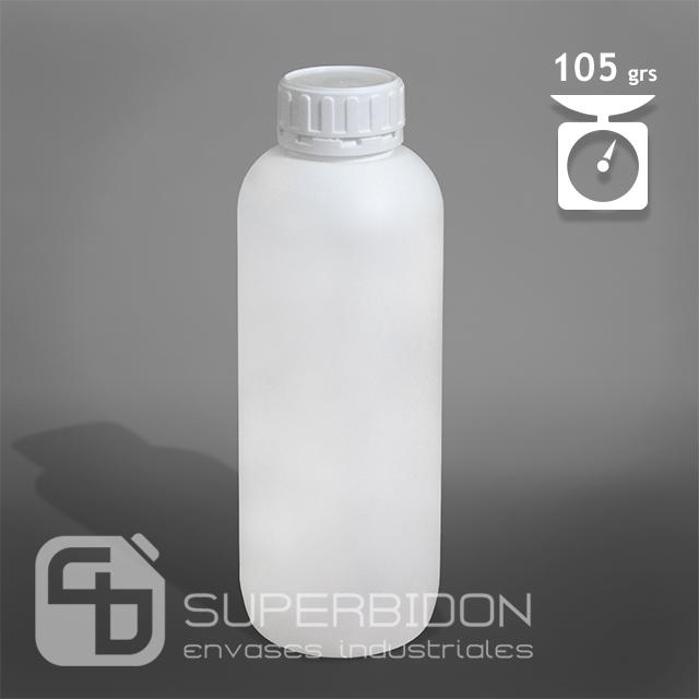 Botella 1litro blanco monocapa 105 grs