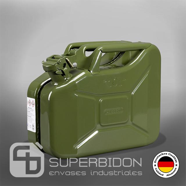 Bidón 10 litros metálico para combustible