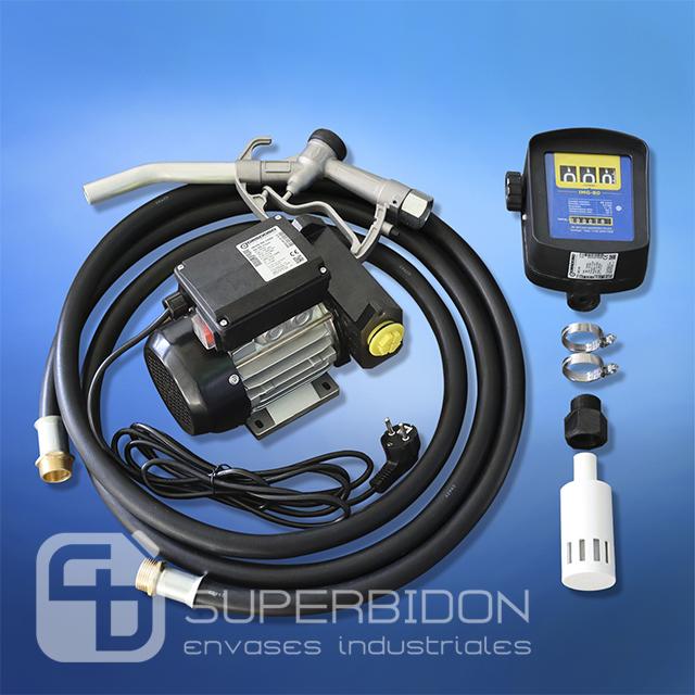 Kit trasvasije para petróleo de 220V con medidor