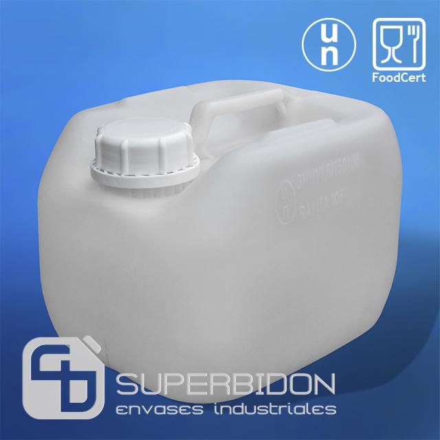 Bidón 4.5 litros Natural con tapa DIN 60 - UN FoodCert