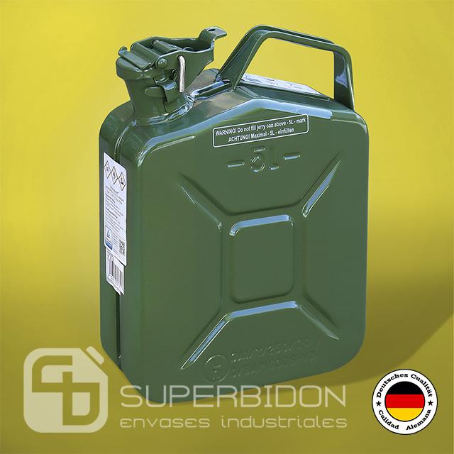 Bidón 5 litros metálico para combustible Pressol